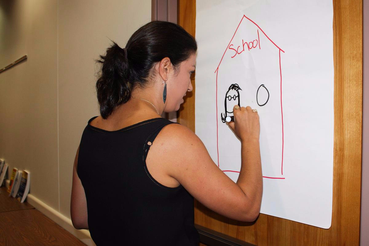 Master teacher certification photo of teacher illustrating on a poster 1betcityfo Choice Image