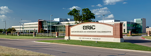 photo of outside Baylor Research Innovation Collaborative building