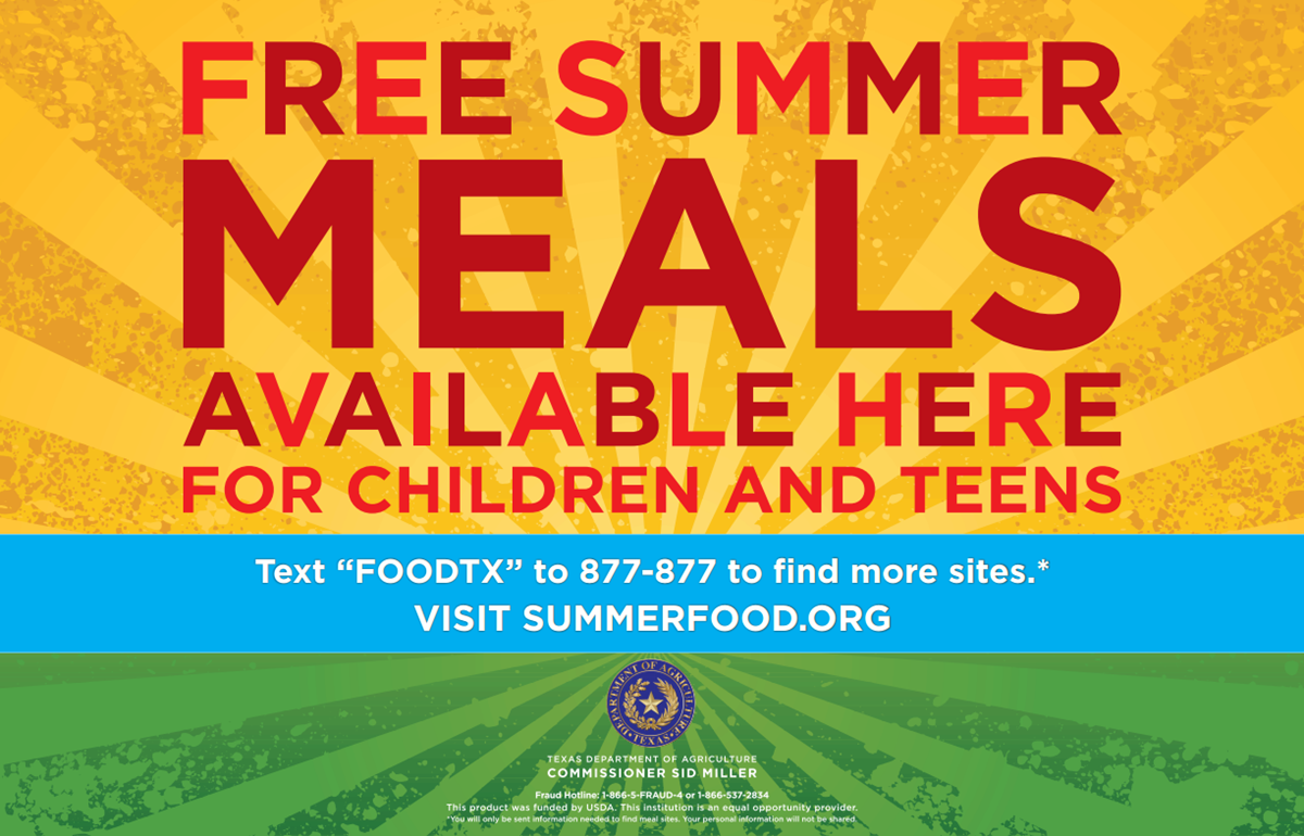 Free meals for children and teens under 18!
